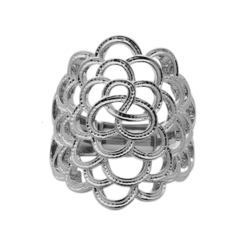 Bisoux Elasticated Statement Lace Effect Ring